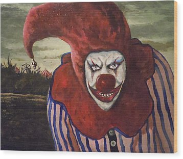 Wood Print featuring the painting Come With Me To The Circus by James Guentner