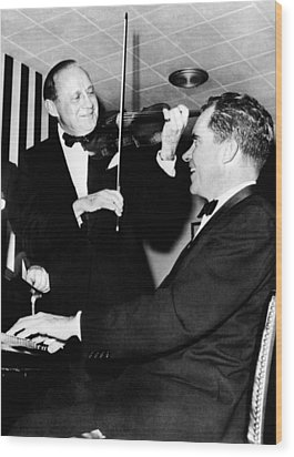 Comedian Jack Benny, With His Violin Wood Print by Everett