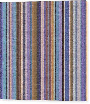 Comfortable Stripes Ll Wood Print by Michelle Calkins