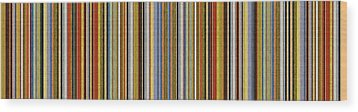 Comfortable Stripes Vlll Wood Print by Michelle Calkins