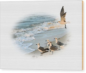 Coming In For A Landing Wood Print by Kristin Elmquist