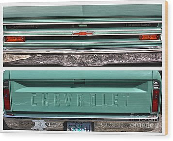 Coming Or Going--still A Chevy Wood Print by David Bearden