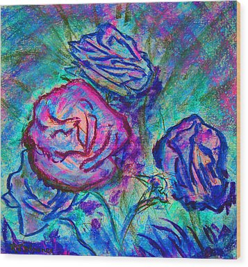 Coming Up Roses Wood Print
