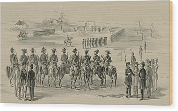 Commemorative Print Depicting Execution Wood Print by Everett