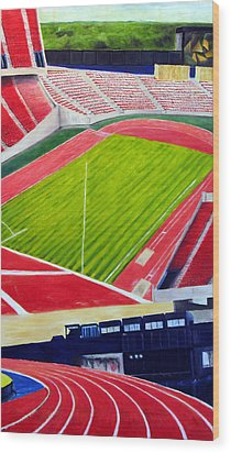 Commonwealth Stadium- Competition Wood Print by Chris Ripley