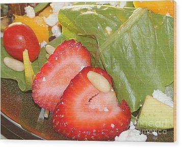 Complimentary Salad Wood Print by Terri Thompson