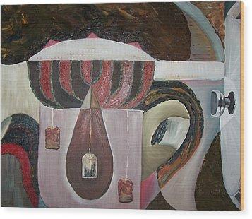 Components Of Tea Wood Print by Nada Al-Ghussain