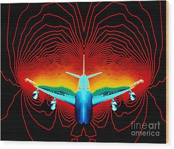 Computer Simulation Of Airplane Flight Wood Print by Nasa
