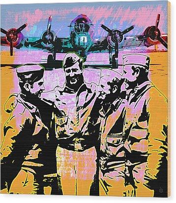 Comradeship Wood Print by Gary Grayson