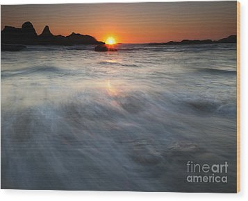Concealed By The Tides Wood Print by Mike  Dawson