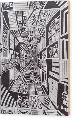 Conceito Wood Print by Mario Fresco