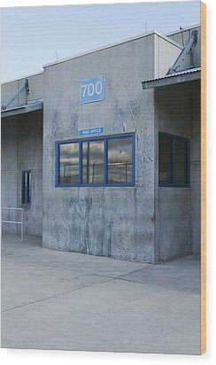 Concrete Building In A Prison Exercise Wood Print by Roberto Westbrook