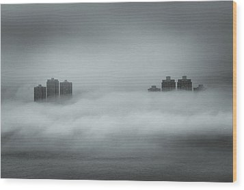 Concrete  Buildings Wood Print by Yiu Yu Hoi