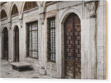 Concubine  Court Wood Print by Joan Carroll