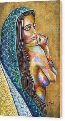 Concubine Wood Print by Jorge Namerow