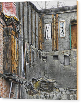 Condemned Wood Print by Michelle Frizzell-Thompson