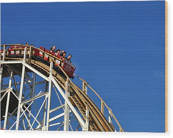 Coney Island Cyclone Wood Print by Diane Lent