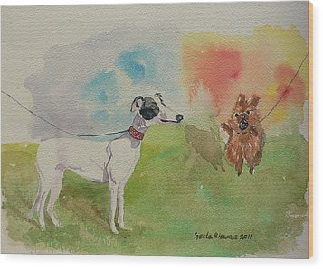 Wood Print featuring the painting Confidence  by Geeta Biswas