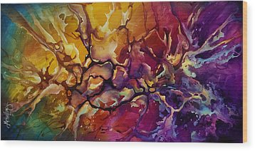 Conflict Wood Print by Michael Lang