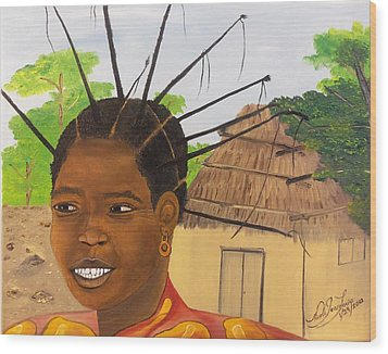 Congolese Woman Wood Print