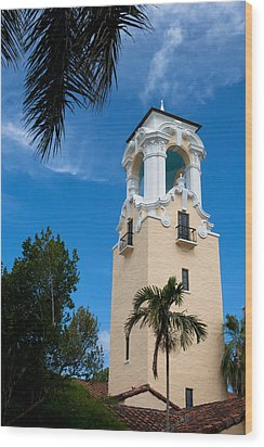 Wood Print featuring the photograph Congregational Church Of Coral Gables by Ed Gleichman