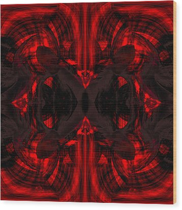 Conjoint - Crimson Wood Print by Christopher Gaston