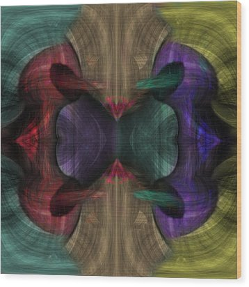 Conjoint - Multicolor Wood Print by Christopher Gaston