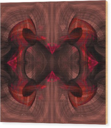 Conjoint - Ruby Wood Print by Christopher Gaston