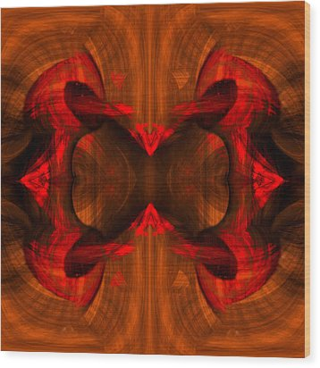 Conjoint - Rust Wood Print by Christopher Gaston