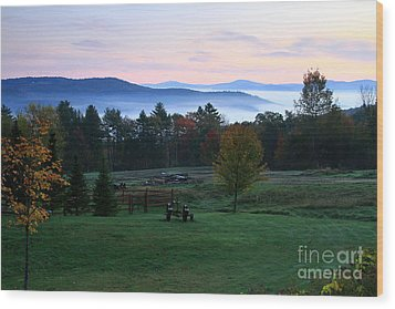 Connecticut River Valley Sunrise Wood Print by Butch Lombardi
