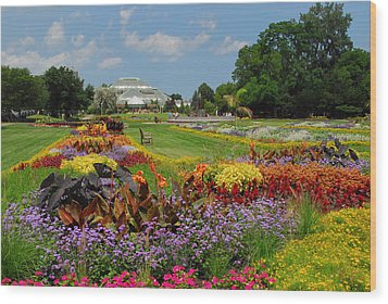 Wood Print featuring the photograph Conservatory Gardens by Lynn Bauer