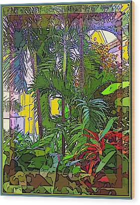 Conservatory Sunlight Wood Print by Mindy Newman