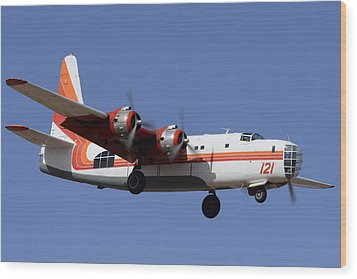 Consolidated P4y-2 Privateer N2871g Tanker 121 Phoenix-mesa Gateway Airport March 9 2012 Wood Print by Brian Lockett