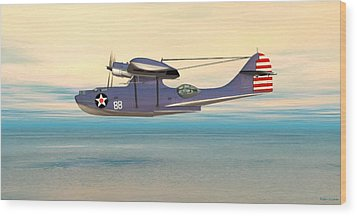 Consolidated Pby Catalina Wood Print by Walter Colvin