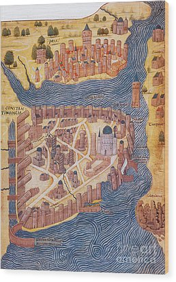 Constantinople, 1485 Wood Print by Photo Researchers