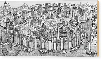 Constantinople, 1493 Wood Print by Photo Researchers