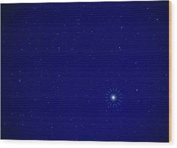 Constellation Of Leo With Jupiter Wood Print by Pekka Parviainen