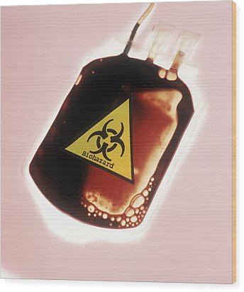 Contaminated Blood Wood Print by Cristina Pedrazzini