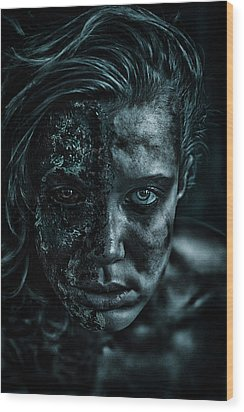 Contamination Wood Print by Eugene Volkov