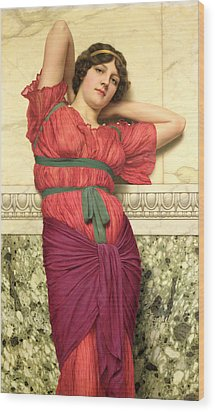 Contemplation Wood Print by John William Godward