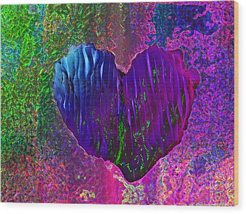 Wood Print featuring the photograph Contours Of The Heart by David Pantuso
