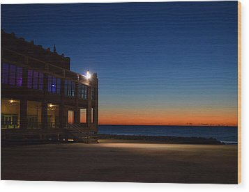 Wood Print featuring the photograph Convention Hall  Asbury Park by Brian Hughes