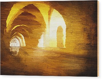 Wood Print featuring the digital art Convento by Andrea Barbieri