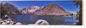 Convict Lake Wood Print by Gary Brandes