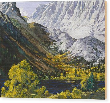 Convict Lake Wood Print by Mark Lunde