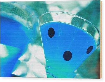 Cool Blue  Wood Print by Toni Hopper