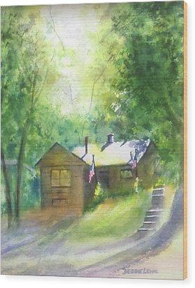 Cool Colorado Cabin Wood Print