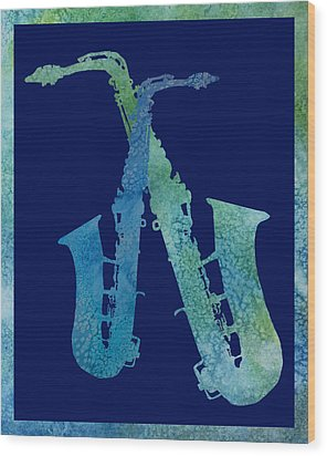 Cool Jazzy Duet Wood Print by Jenny Armitage