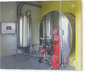 Cooling Tank For Milk Wood Print by Jaak Nilson
