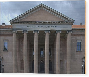 Wood Print featuring the photograph Copenhagen Courthouse by Steven Richman